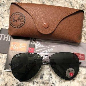 rayban sunglasses black polarized 62mm